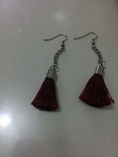 PRELOVED MAROON EARRINGS