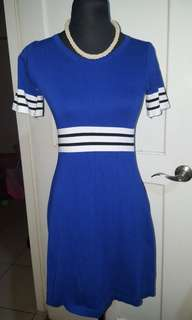 Women's sexy outfit knitted blue and white