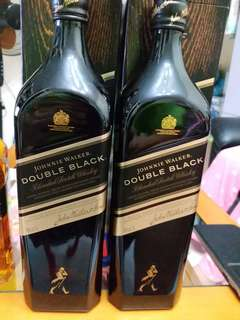 Johnnie Walker Double  Black 威士忌1公升1000ml with box, 每支
