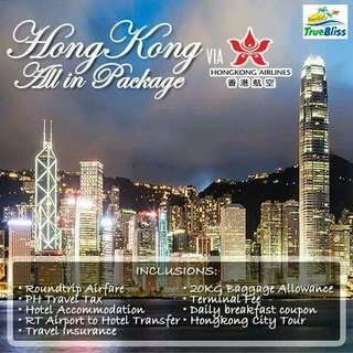 3D2N HONGKONG ALL IN PACKAGE VIA HONGKONG AIRLINES