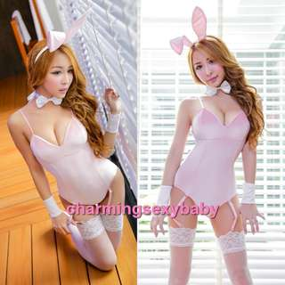 Bikini Sexy Lingerie Cosplay Panties Underwear Costumes Sleepwear Baju Tidur Wanita MH6186 Pink