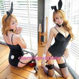 Bikini Sexy Lingerie Cosplay Panties Underwear Costumes Sleepwear Baju Tidur MH6186 Black