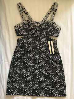 Topshop BNWT cut-out party dress