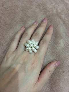 Authentic pearl ring