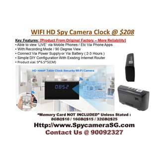Clock Camera Wifi IP