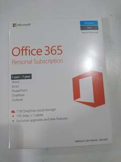 🚚 Office 365 Personal Subscription 1 year 1 user