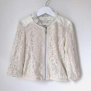Zara Girls Lace Jacket Size 3-4
