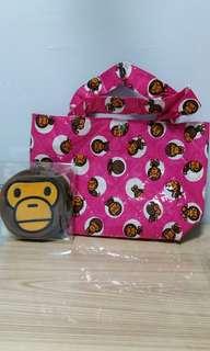 Aape Babymilo 手挽袋+散紙包(一套)