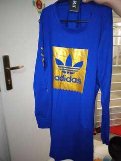 Dark Blue Adidas Long Sleeve Dress