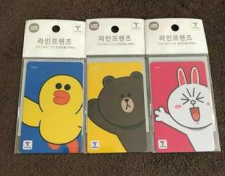 Line friends 韓國 T money 咭