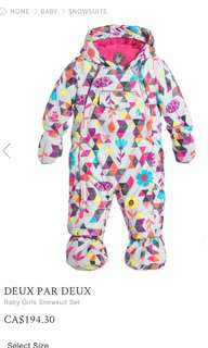 deux par Deux baby girl snowsuit set