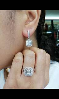 Hongkong Diamonds set 2carat diamonds