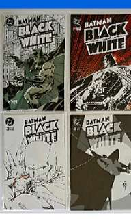 DC Comics Batman Black and White Complete 4 Issues Mini Series Near Mint Condition Bolland Gaiman