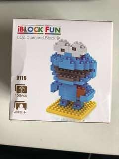 Cookie Monster mini blocks