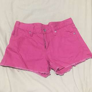 Uniqlo Pink Denim Shorts