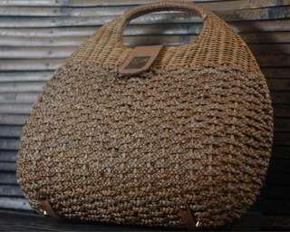 Jay Michaels Woven Rattan Bag (Large)