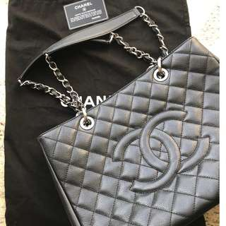 Chanel Grand Shopping Leather Tote black