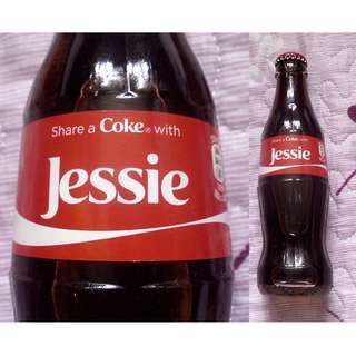 自定人名Jessie可口可樂玻璃樽一枝