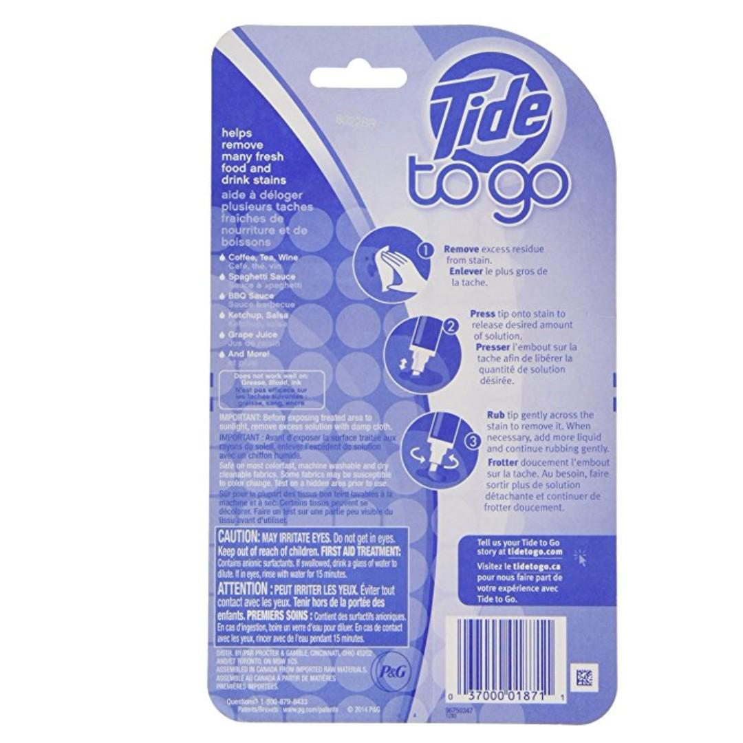 【旺角店現貨】3 支裝 美國進口 Tide to Go 污漬便攜式衣物清潔劑 去污筆 去漬筆 污漬清潔筆