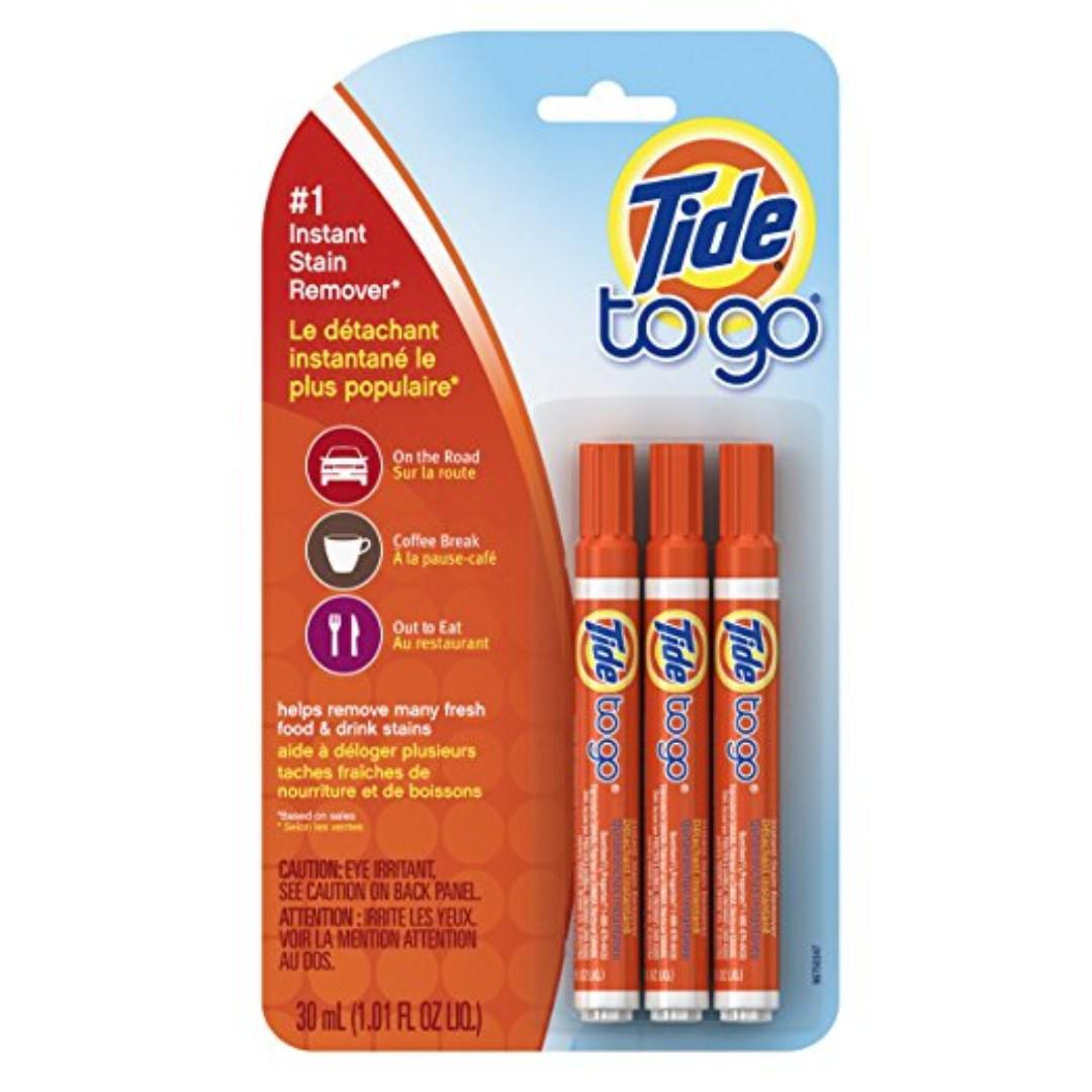 【包郵局取件】3 支裝 美國進口 Tide to Go 污漬便攜式衣物清潔劑 去污筆 去漬筆 污漬清潔筆