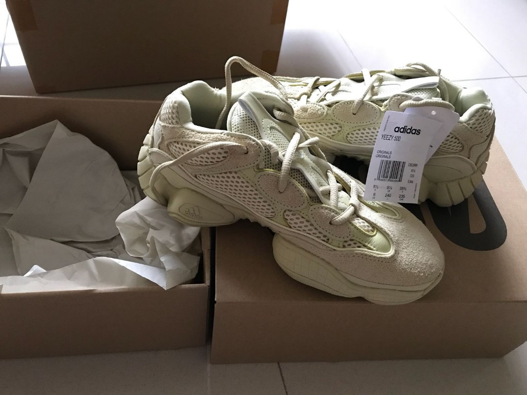 3600792e02489 Adidas adidas Yeezy 500 Super Moon Yellow