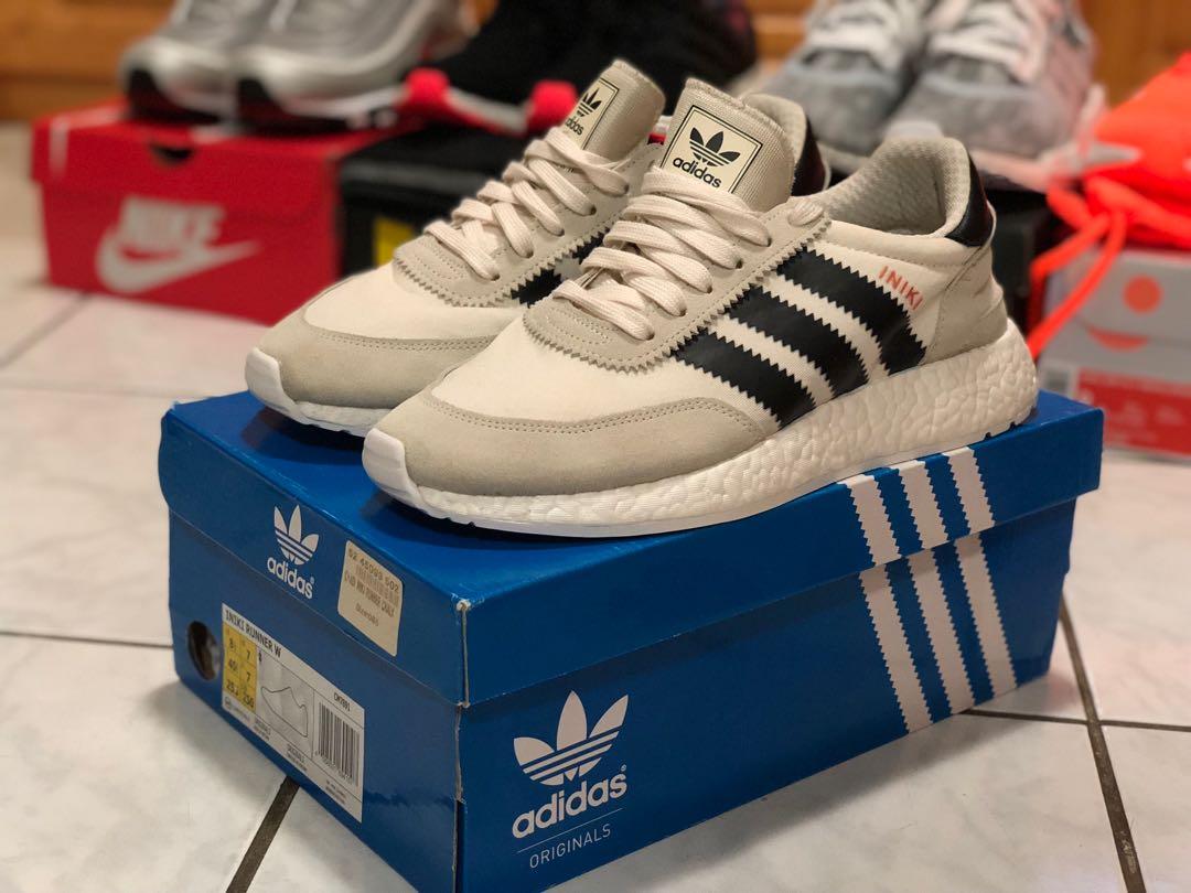 """online store cf212 7b1a4 Adidas footlocker EU exclusive first release Iniki """"Chalk"""" Women US8.5 Men  US7.5 Nike off white Jordan Yeezy element, Men s Fashion, Men s Footwear on  ..."""