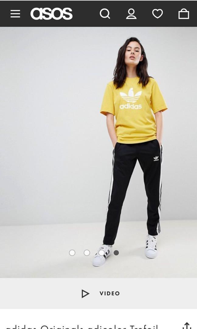 adidas trefoil oversized t shirt