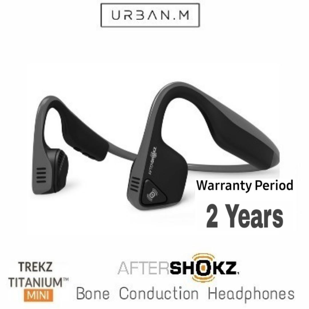56938630261 Aftershokz Wireless Trekz Titanium Mini Bone Conduction Headphones ...
