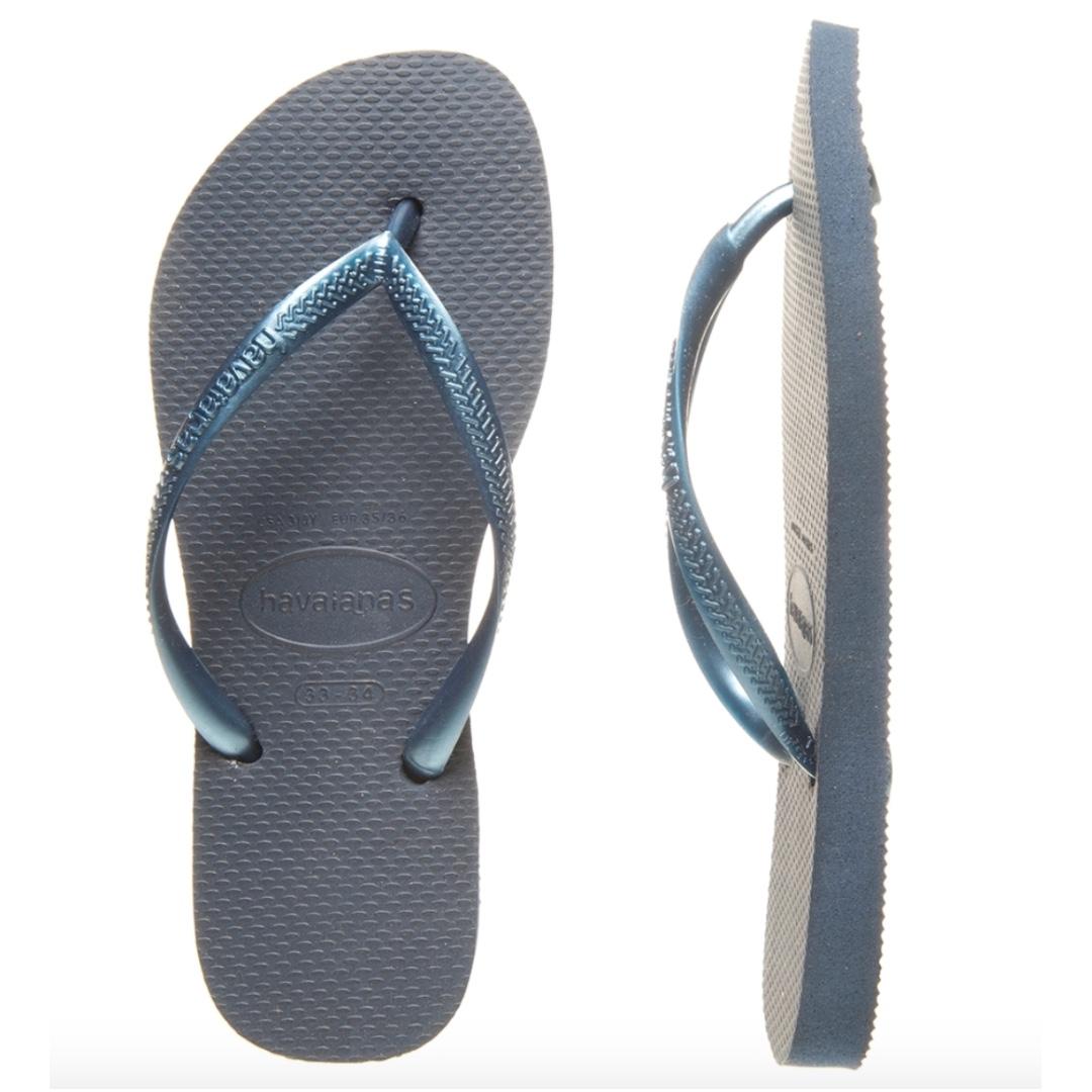 9e0dce47f Authentic Brandnew BR 39 40 Havaianas Slim Womens Navy Blue Thongs ...