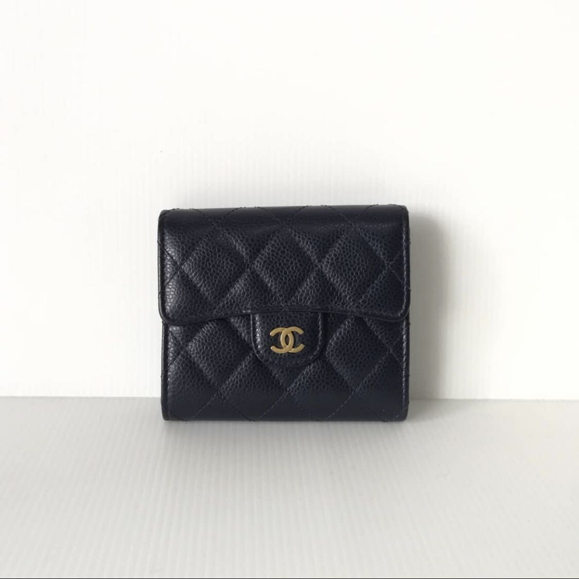 922d7215cc47 AUTHENTIC CHANEL CLASSIC SMALL TRI FOLD WALLET, Luxury, Bags & Wallets on  Carousell