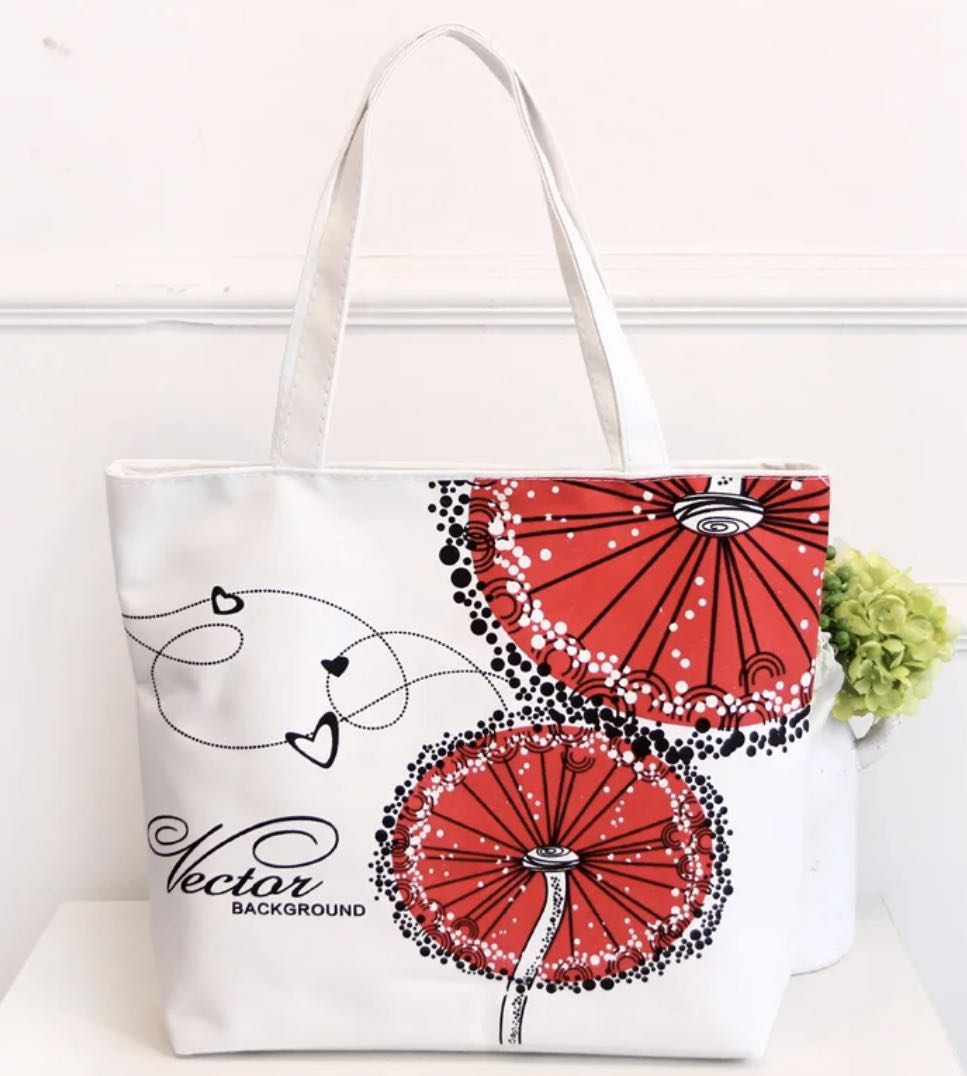 7120ec892bf7 Canvas Tote Bag - Red Nectar