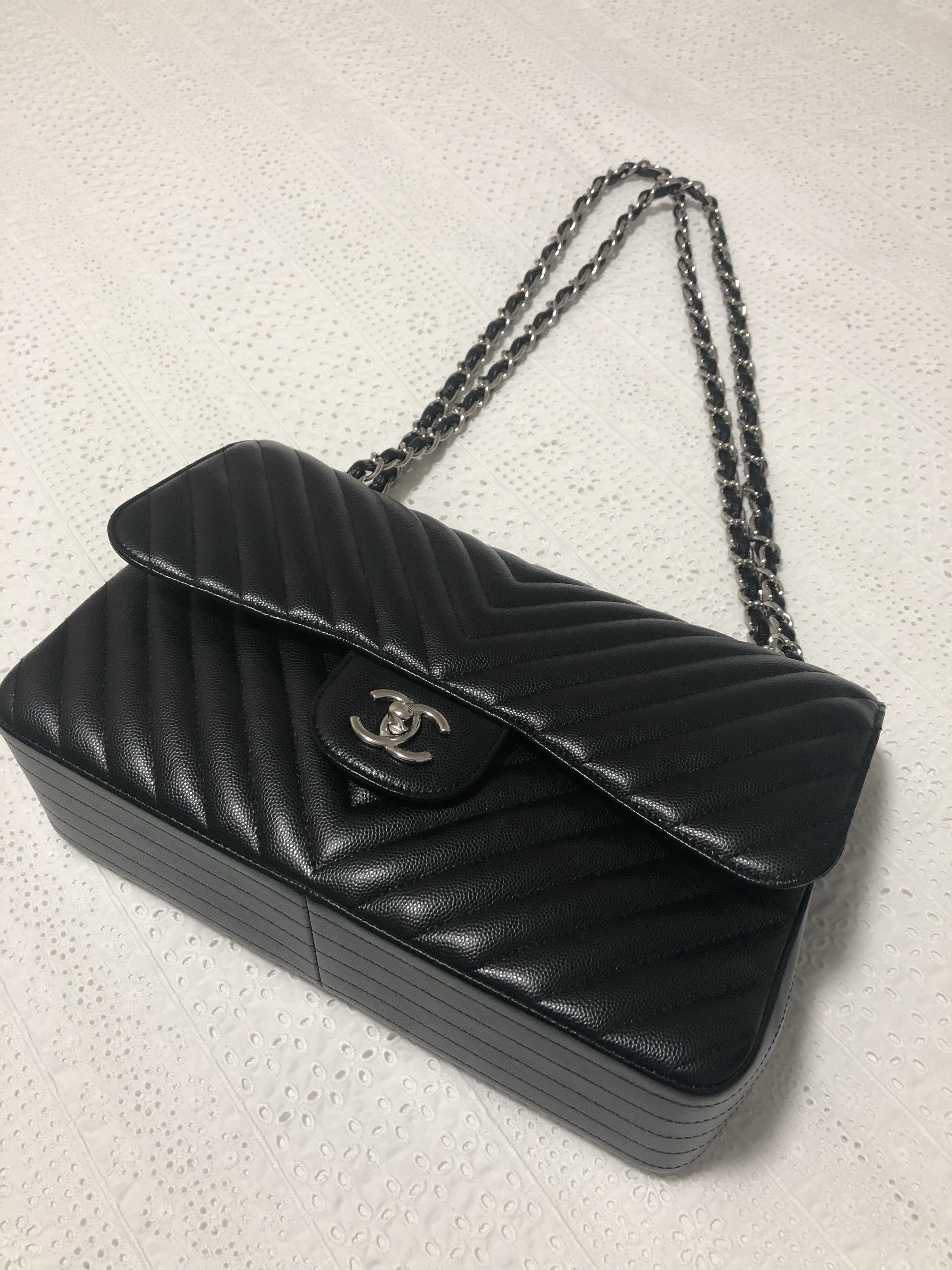 8ffb756f16c024 #Caroupay Chanel Large Classic Flap Bag, Luxury, Bags & Wallets, Handbags  on Carousell