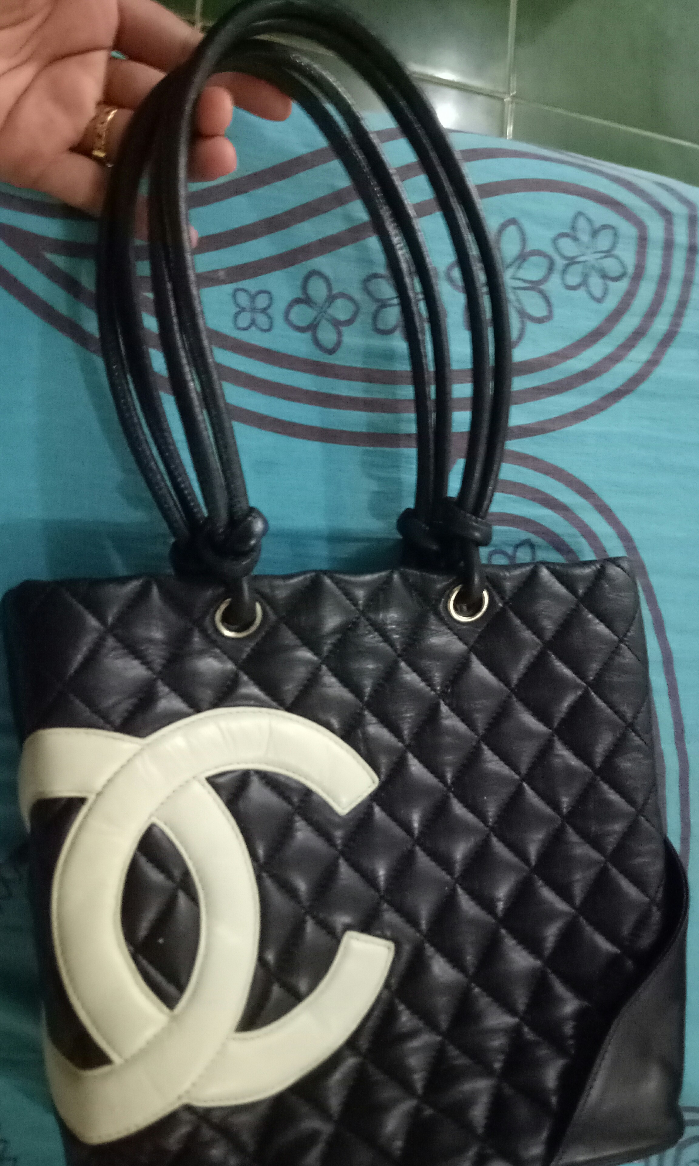 92ad1a945a99 clearance sale!! preowned chanel cambon tote bag, Luxury, Bags ...