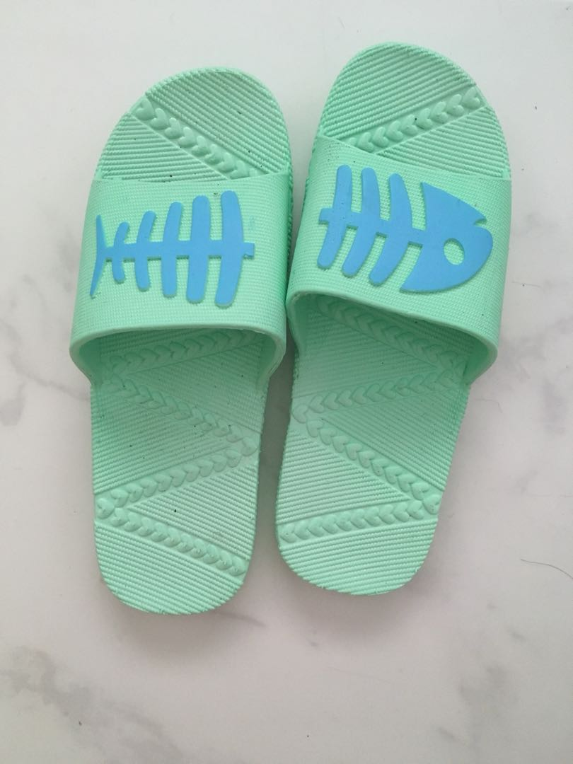 17a16ed0f Cute flip flops   sandal cyan fish print