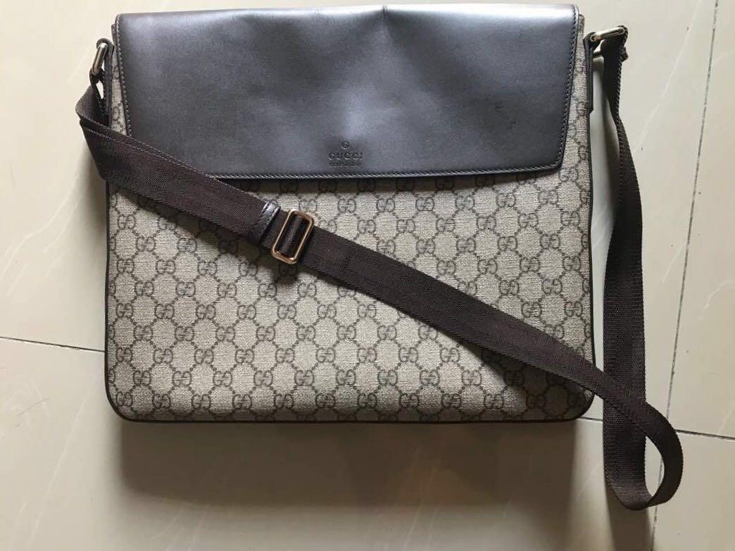 134a63adb Gucci Messenger Bag, Men's Fashion, Bags & Wallets, Sling Bags on ...