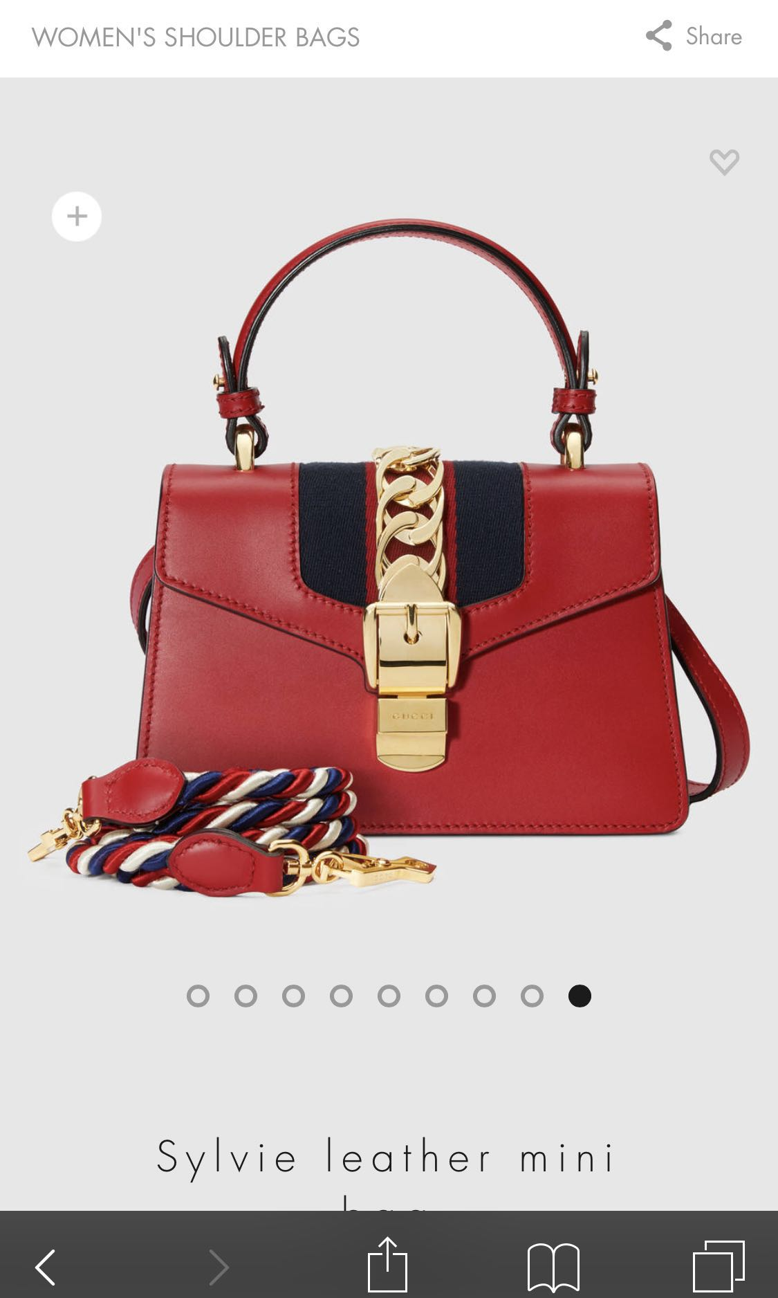 bbb02f04567 Gucci Sylvie Mini Leather Red Bag
