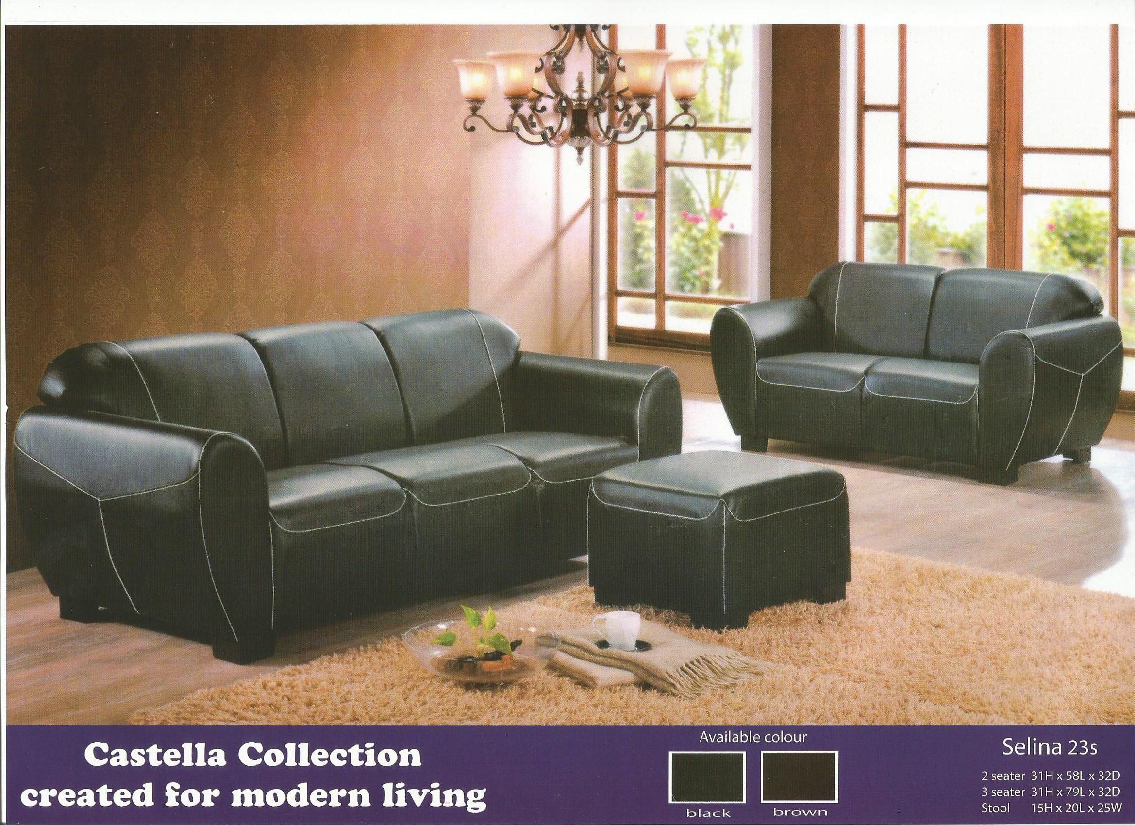 low price sofa set 2 3 stool model SELINA Home & Furniture Furniture on Carousell