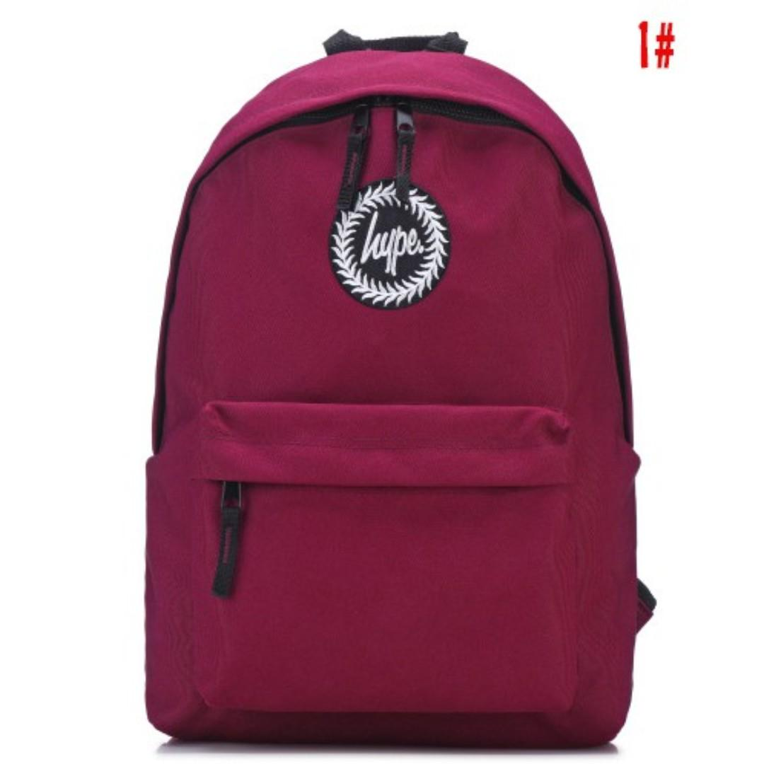 coupon code various design best quality Maroon Red Hype Backpack, Everything Else on Carousell