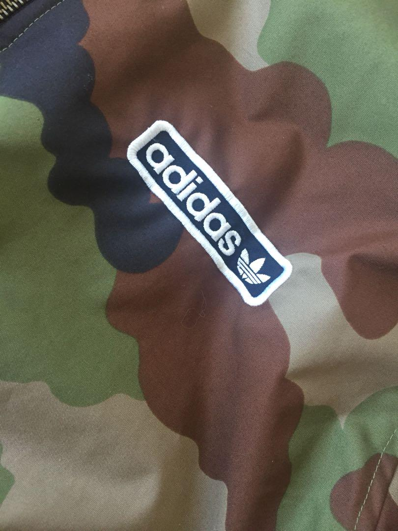 Men's Adidas Camo Bomber Jacket- Size large