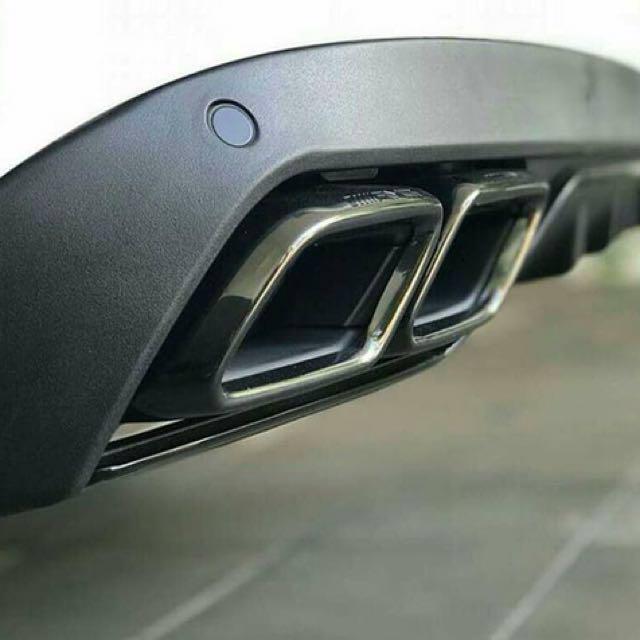 Mercedes C-Class W205 Avantgarde Covert Rear Diffuser To