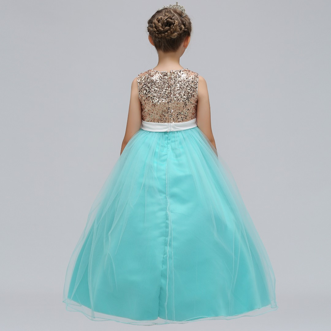 6ca79abe Shimmering Sequinz Flower Girls Wedding Long Gown Dress 4-12 Years Old,  Babies & Kids, Girls' Apparel, 8 to 12 Years on Carousell
