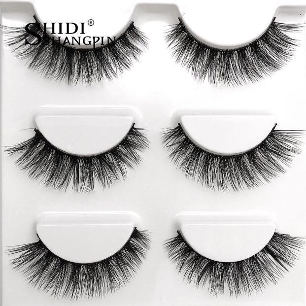 mink false eyelashes - 3 pack