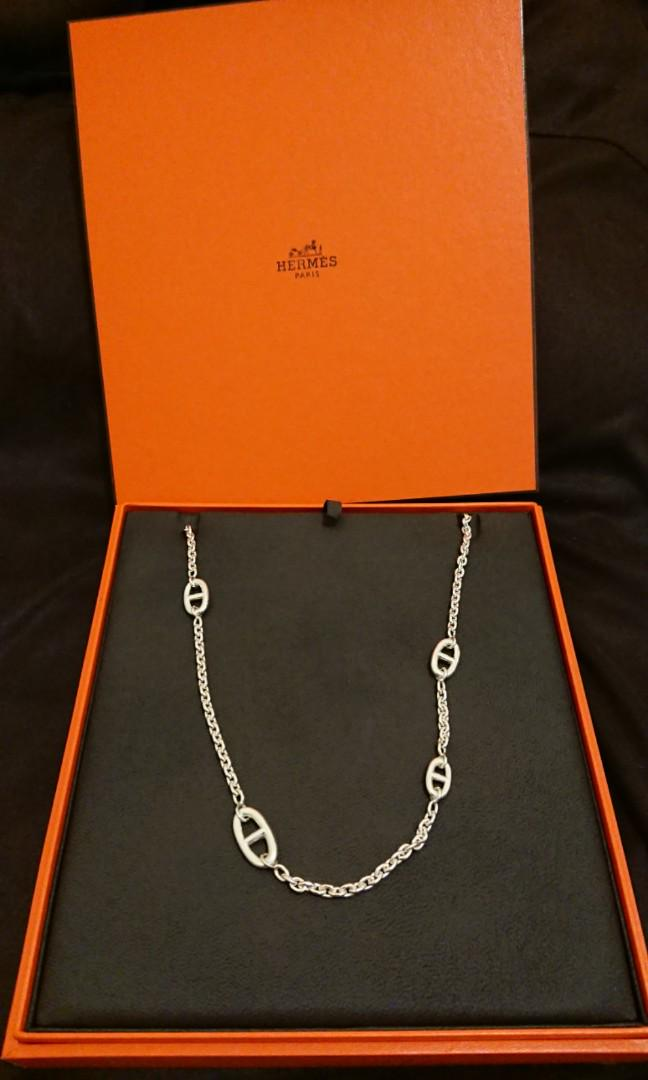 NEW Hermes 120cm Farandole Long Necklace Silver 925純銀頸鍊