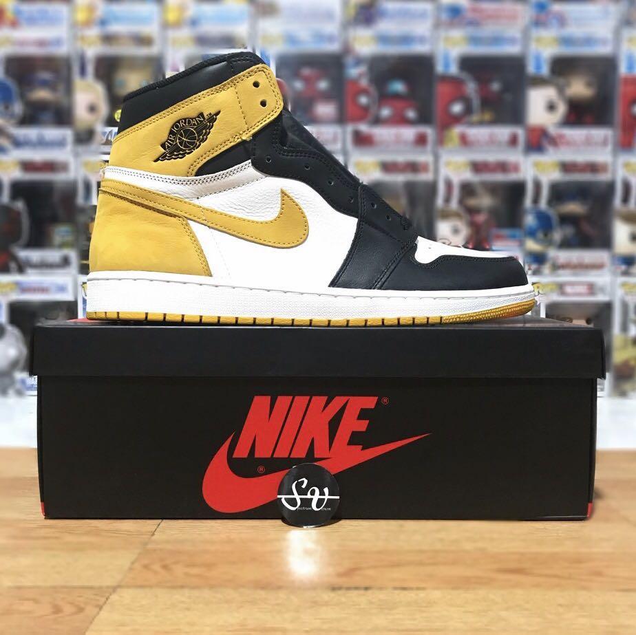 6976a46cc9e Nike Air Jordan 1 Retro High Yellow Ochre Best Hand In The Game ...