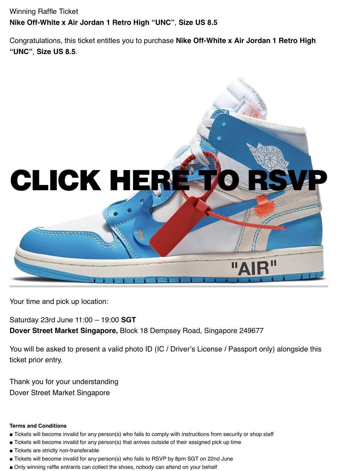 3d9895aa9da62b Nike Air Jordan 1 x Off-White  UNC
