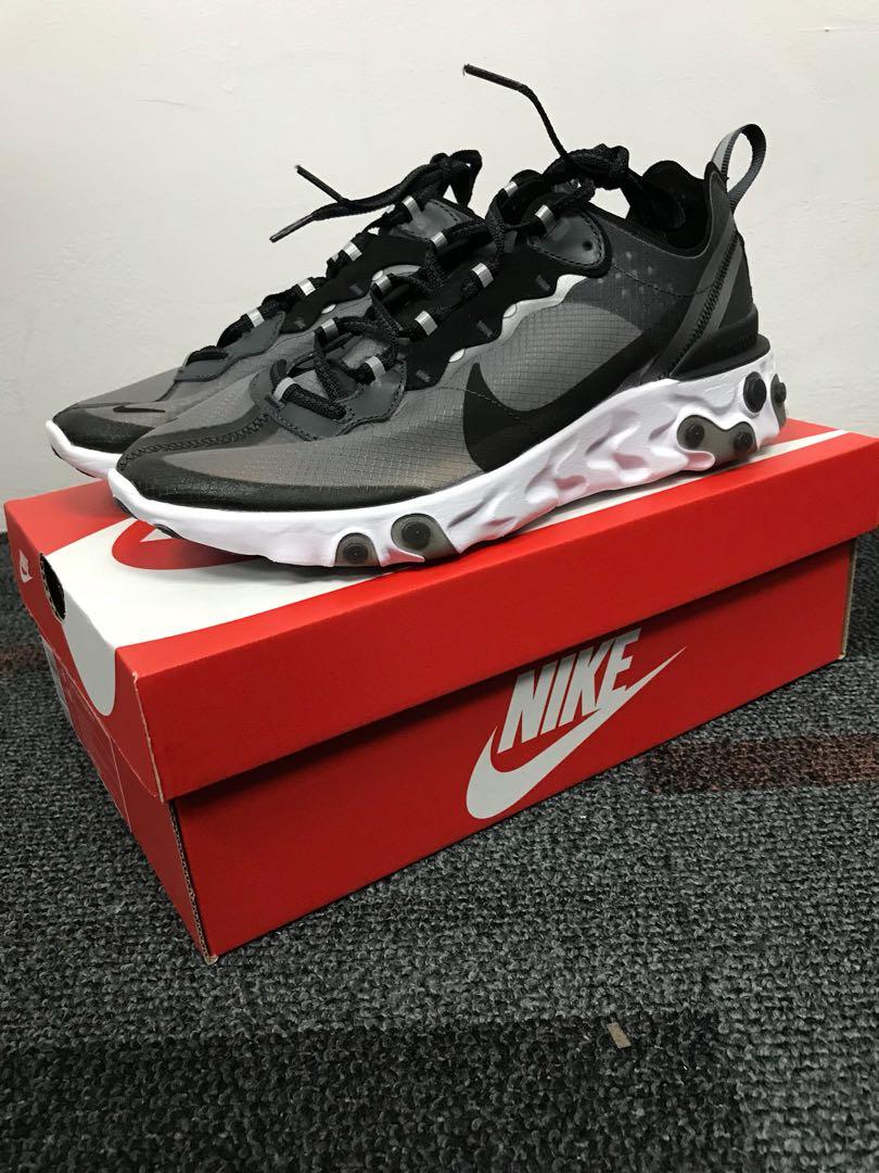 38e0773e80b1d Nike React Element 87 Black
