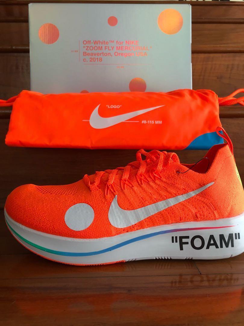 9ea86f35c2a7 Nike zoom fly mercurial Off-white orange
