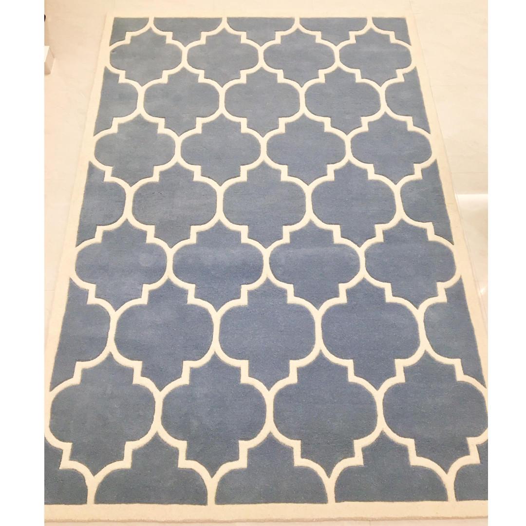 Safavieh Light Blue / Ivory Carpet Rug - Montreal Collection