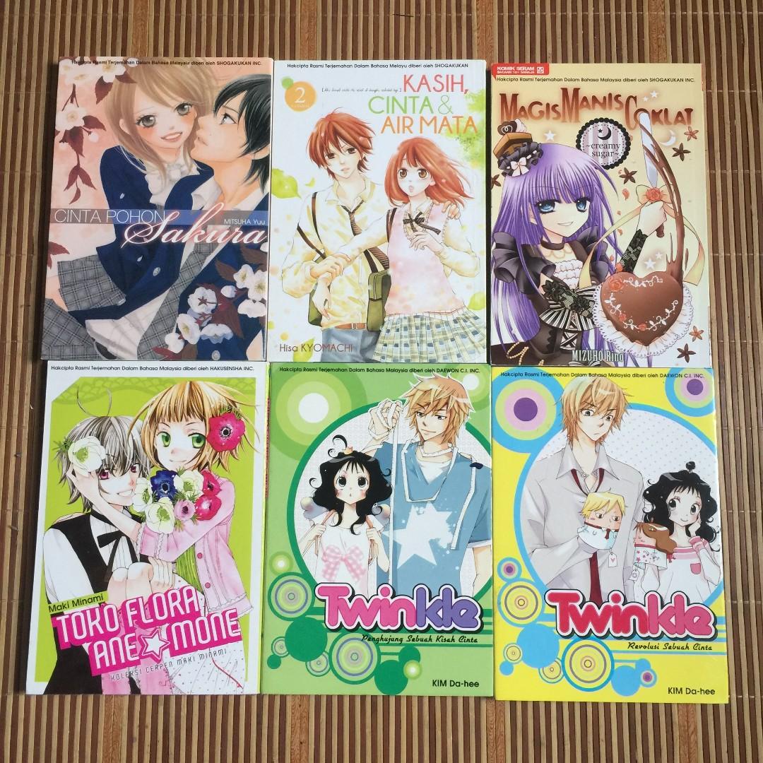 Set manga 6 books peralatan tulis komik dan manga di carousell