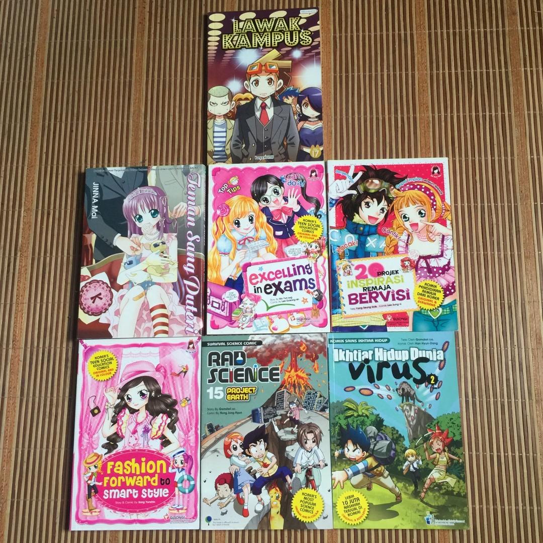Set manga 7 books peralatan tulis komik dan manga di carousell